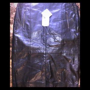 Halogen brand New leather skirt